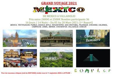 Affiche grand voyage 2021 mexique fotor
