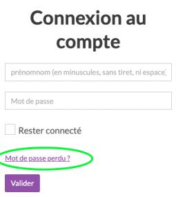 Connexion au compte