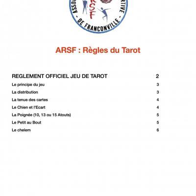 Règles officielles du jeu de tarot arsf